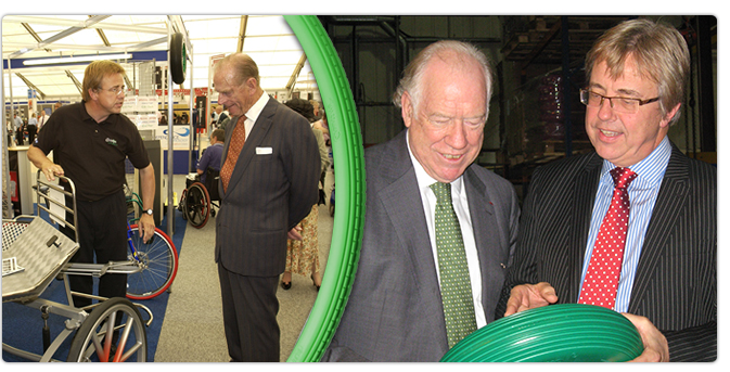 Greentyre meets Prince Philip and Stuart Bell